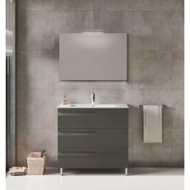 Mueble baño VITALE con lavabo ceramico-espejo y luminaria led de ROYO