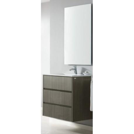 Mueble ba o lido de 70 cm suspendido de madera mdf de 3 for Mueble recibidor 70 cm