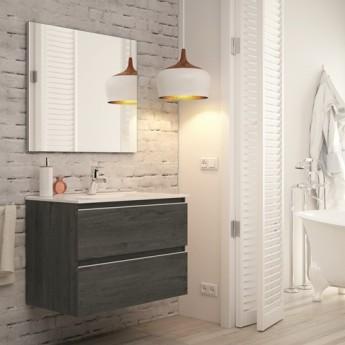 Mueble ba o madrid acabado ebony de 80 cm con lavabo - Accesorios bano madrid ...