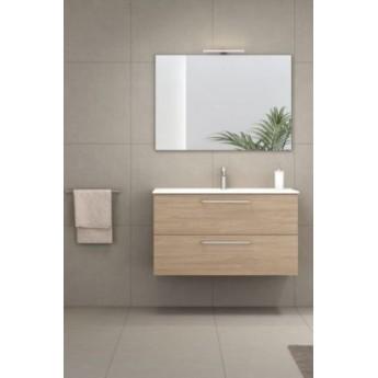 aa46e2d7b632 Mueble baño Royo Easy suspendido con lavabo Slim,espejo Murano y luminaria  Lucce.