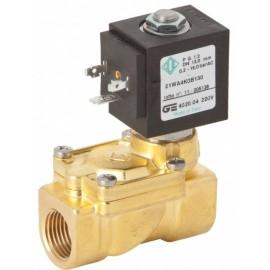 Electrovalvula 2 vias normalmente cerrada de 12 voltios y rosca hembra.