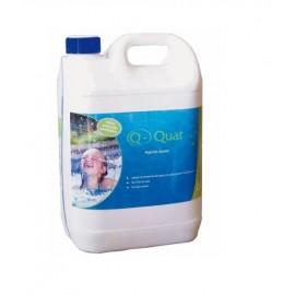 Algicida piscinas Q-QUAT de 5 litros para el agua de piscinas.