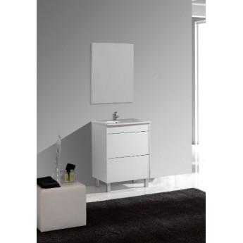 Mueble baño Push 60 cm/ 80 cm/ 120 cm blanco/gris y encimera con espejo