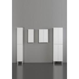 Mueble baño Lena 50 cm blanco/gris y encimera con espejo