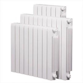 Radiador de aluminio TRADESA -TRA en baterias de 10 elementos de 350 mm entre ejes.