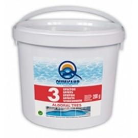 Alboral cloro 25 kg PS en pastillas de 200 gramos triple efecto.