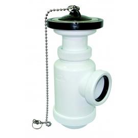 Sifón botella extensible salida horizontal con válvula lavabo-bidet
