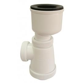 Sifón botella corto extensible con adaptador de urinario