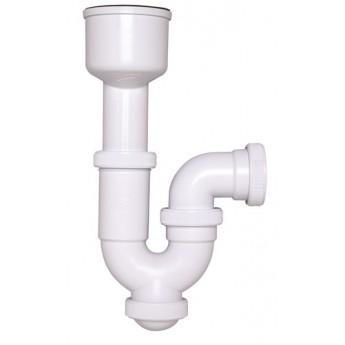 Sifón curvo extensible con adaptador de urinario