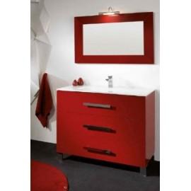 Mueble baño ATRIOS con espejo y encimera de porcelana.