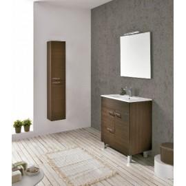 Mueble baño Confort Spirit de Royo con 4 patas,1 puerta y 2 cajones,luminaria y ademas con lavabo ceramico.
