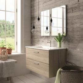 Mueble baño ALMAGRO CAMBRIAN de 80 cm ,con lavabo ceramico y espejo.Nuevo modelo en oferta por su lanzamiento