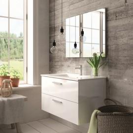 Mueble baño ALMAGRO BLANCO de 80 cm ,con lavabo ceramico y espejo.Nuevo modelo en oferta por su lanzamiento