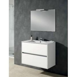 Mueble baño Taiga de Torvisco con 2 cajones suspendido.