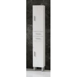 Mueble baño columna Claudia con  2 puertas y 2 cajones.