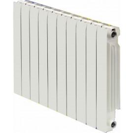 Radiador de aluminio Ferroli Europa en baterias de 10 elementos de 500 mm entre ejes.