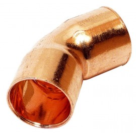 Codo 45º cobre hembra-hembra