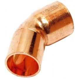 Codo 45º cobre macho-hembra