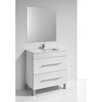 Mueble baño Nerea 80 cm blanco y encimera con espejo