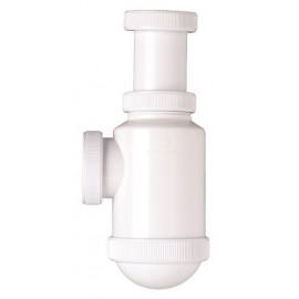 Sifón botella extensible salida horizontal con racord (tuerca loca)