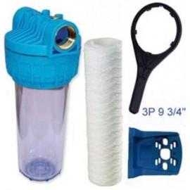 Kit filtro 3 piezas, con cartucho, soporte y llave