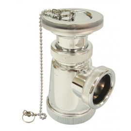 Sifón botella corto extensible, salida horizontal con válvula lavabo bidet. CROMO