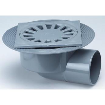 Caldereta sifónica extensible salida horizontal PVC