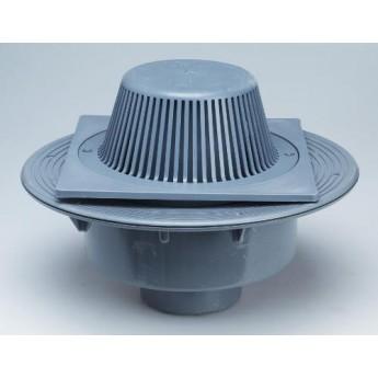 Caldereta sifónica extensible salida vertical con rejilla elevada PVC