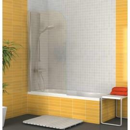 Mampara biombo de bañera modelo Burgos en cromo transparente. Mampara 80 cm de ancho x 145 de alto.