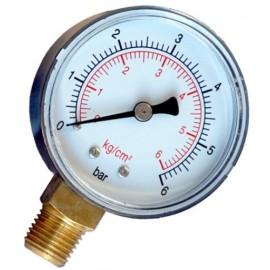 Manometro para medir la presion del agua.